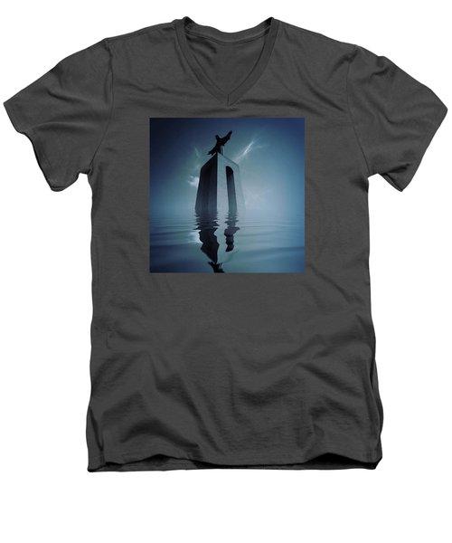 Rise Men's V-Neck T-Shirt by Jorge Ferreira