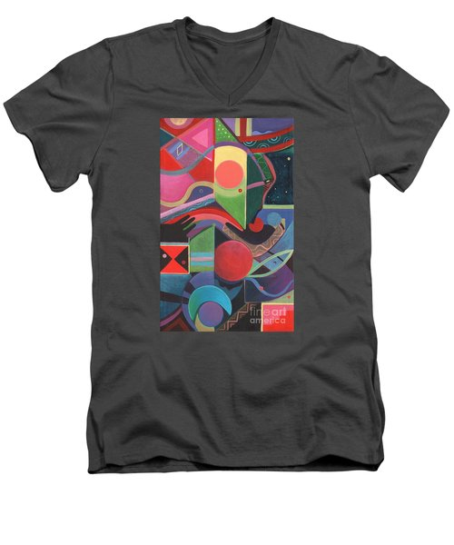 Rising Above And Synergy 2 Men's V-Neck T-Shirt