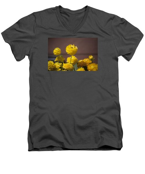 Rising Above The Crowd Men's V-Neck T-Shirt by Morris  McClung