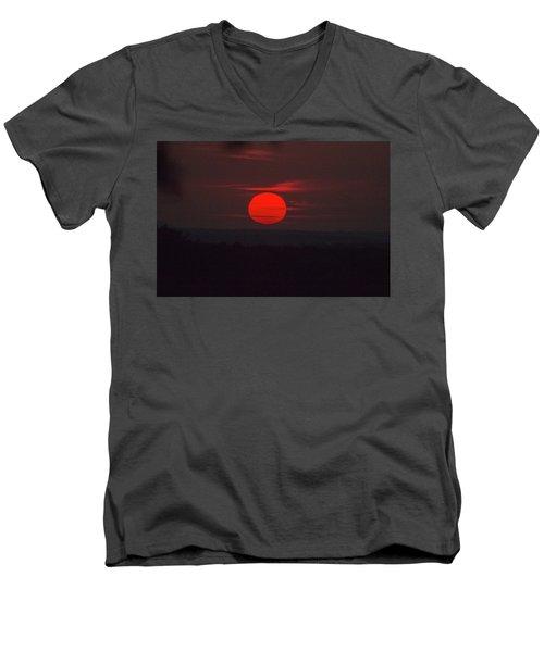 Rising Sun In Texas Men's V-Neck T-Shirt