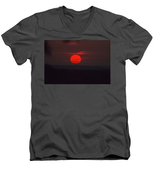 Rising Sun In Texas Men's V-Neck T-Shirt