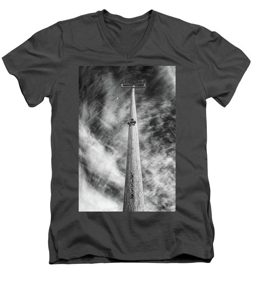 Rising To The Heights Men's V-Neck T-Shirt by Greg Nyquist