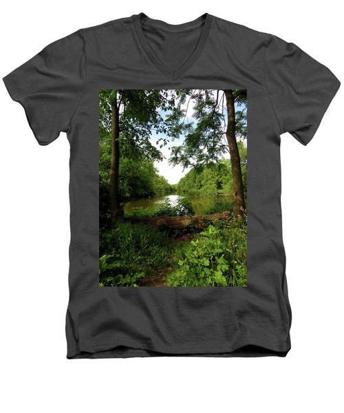 River Bend Seating Men's V-Neck T-Shirt
