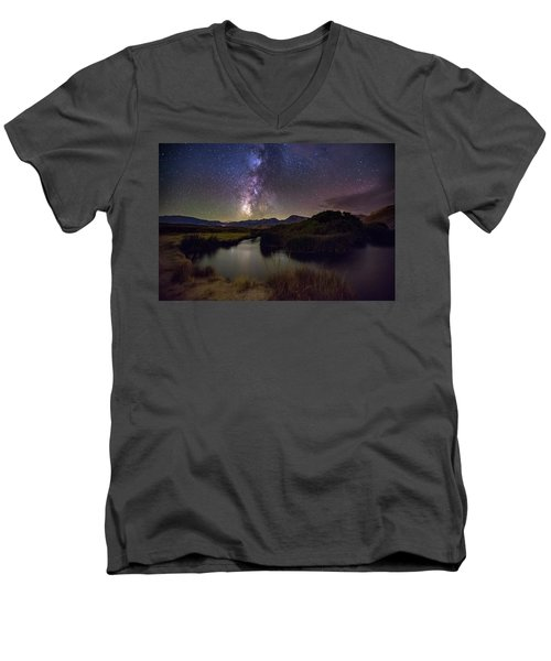 River Bend Men's V-Neck T-Shirt by Tassanee Angiolillo
