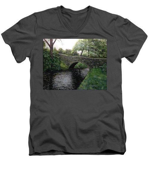 River Bridge Men's V-Neck T-Shirt