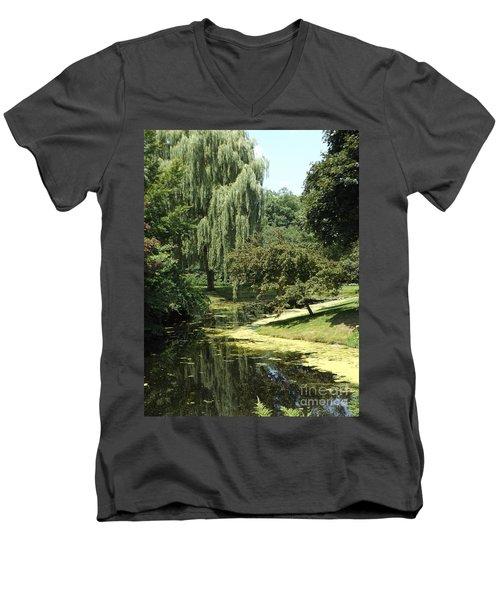 River Flows Through Men's V-Neck T-Shirt