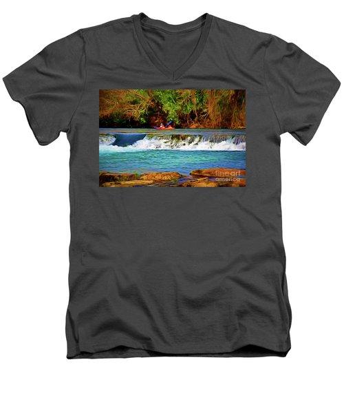 River Good Times 121217-1 Men's V-Neck T-Shirt