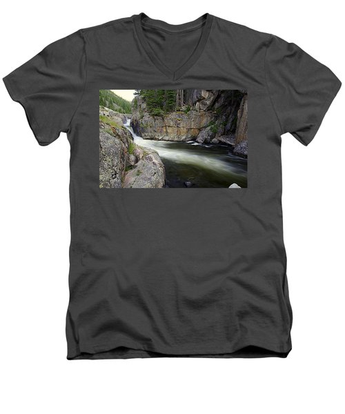 River In The Rockies Men's V-Neck T-Shirt