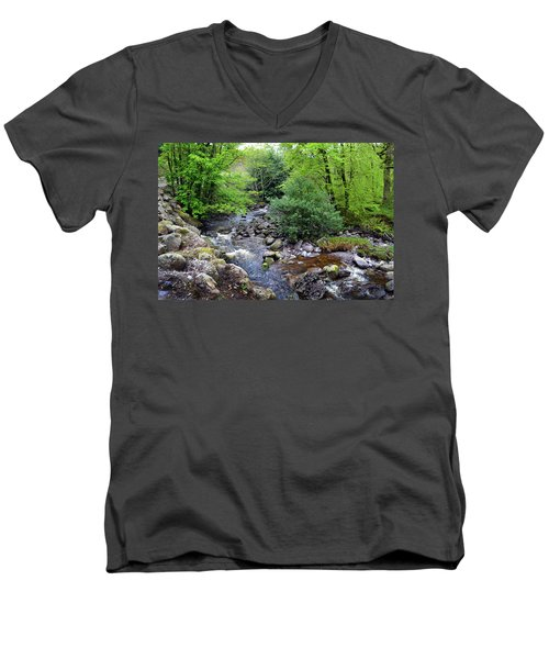 River Mahon Waterford Ireland..jpg Men's V-Neck T-Shirt