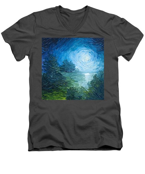 River Moon Men's V-Neck T-Shirt