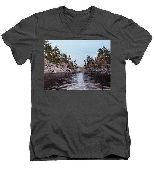 River Narrows Men's V-Neck T-Shirt