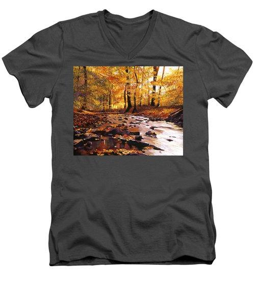 River Of Gold Men's V-Neck T-Shirt