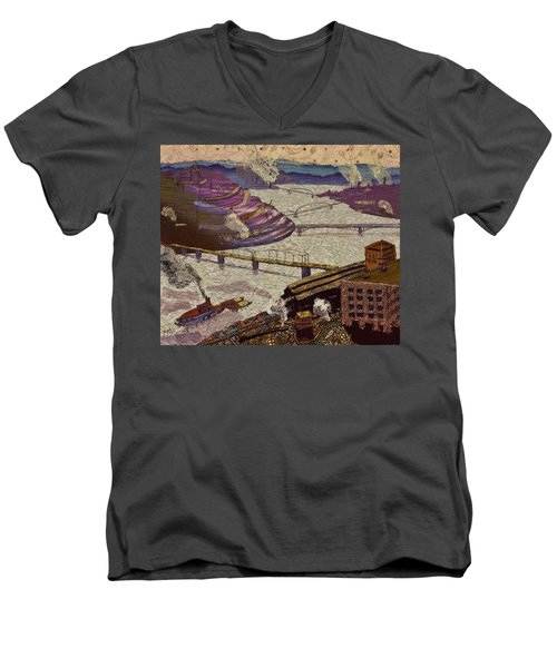 River Of Industry Men's V-Neck T-Shirt