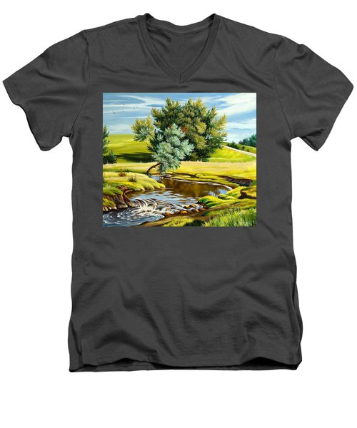 River Of Life Men's V-Neck T-Shirt