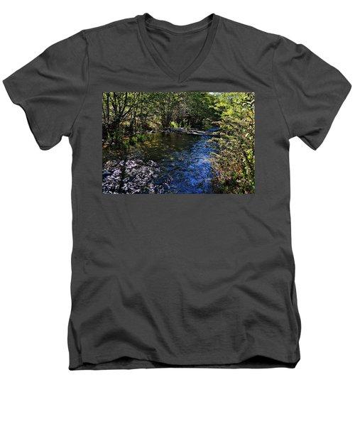 River Of Peace Men's V-Neck T-Shirt