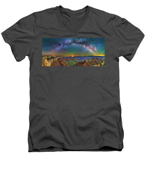 River Of Stars Men's V-Neck T-Shirt