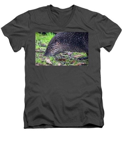 River Otter Astray  Men's V-Neck T-Shirt
