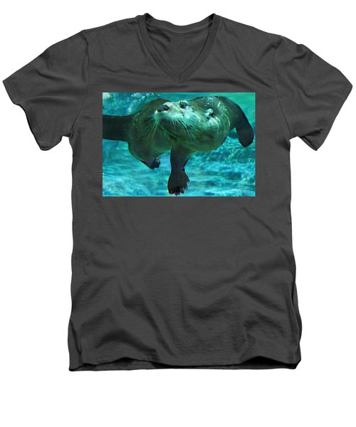 River Otter Men's V-Neck T-Shirt