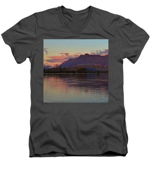 Fraser River, British Columbia Men's V-Neck T-Shirt by Heather Vopni