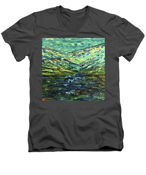 River Run Men's V-Neck T-Shirt