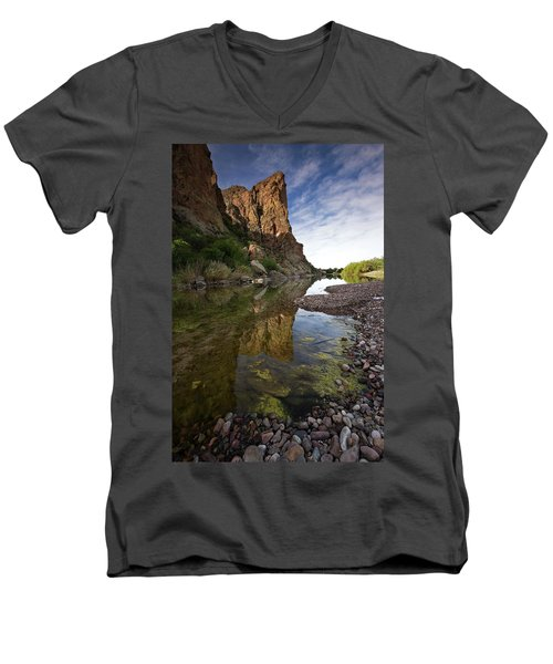 River Serenity Men's V-Neck T-Shirt by Sue Cullumber