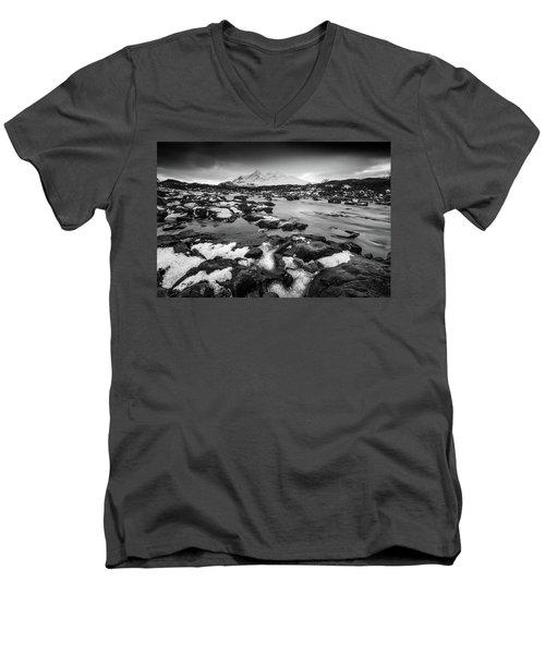 River Sligachan And Black Cuillin, Isle Of Skye Men's V-Neck T-Shirt
