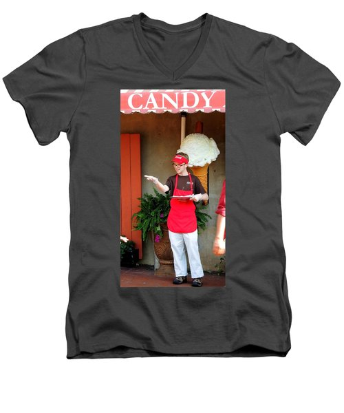 River Street Candy Man Men's V-Neck T-Shirt