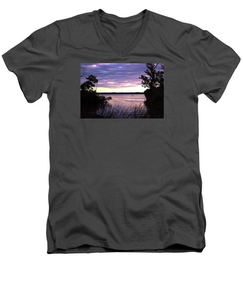 River Sunrise Men's V-Neck T-Shirt