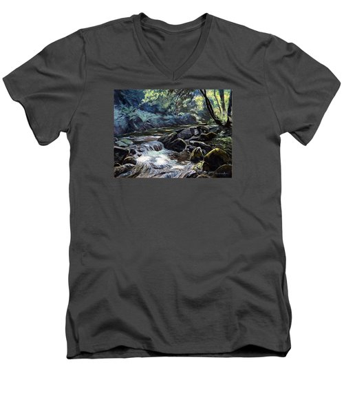 River Taw Sticklepath Men's V-Neck T-Shirt