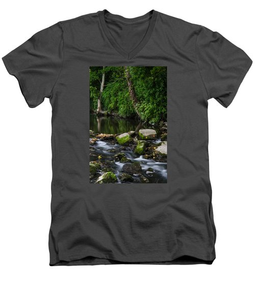 River Tolka Men's V-Neck T-Shirt by Martina Fagan