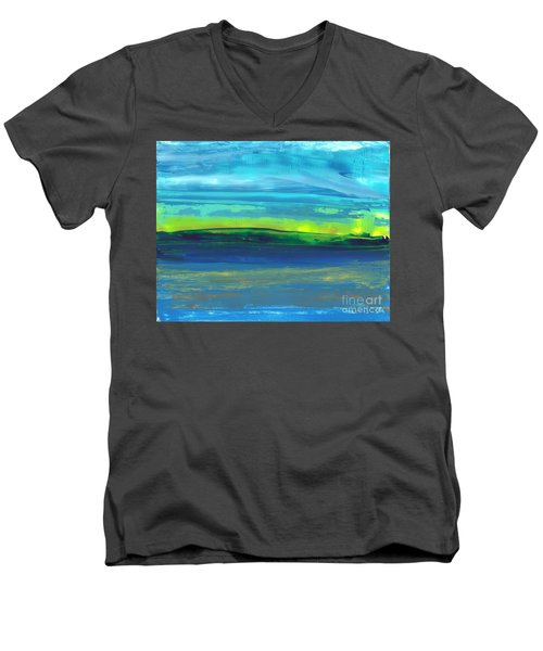 Riverbank Green Men's V-Neck T-Shirt