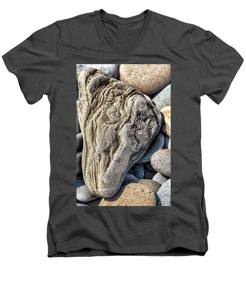 Rivered Stone Men's V-Neck T-Shirt