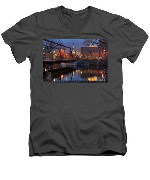 Riverplace Minneapolis Little Europe Men's V-Neck T-Shirt