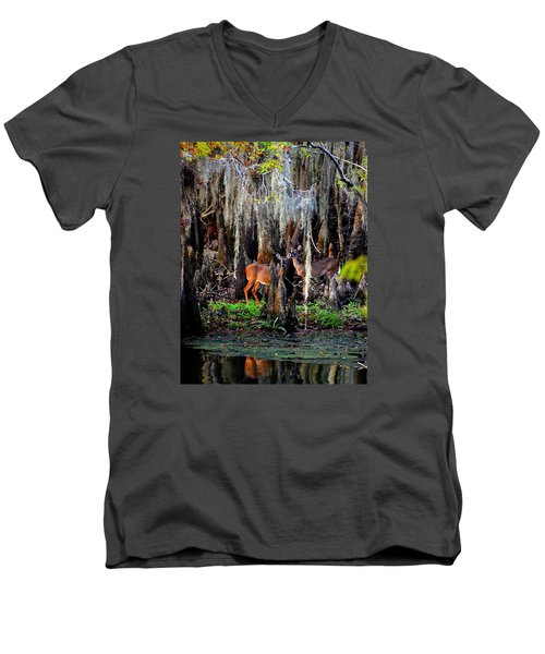 Riverside Deer Men's V-Neck T-Shirt