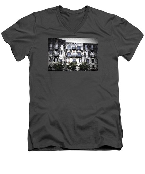 Men's V-Neck T-Shirt featuring the photograph Riverview by Judy Wolinsky