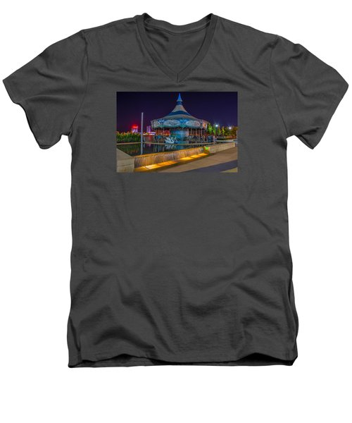 Riverwalk Carousel  Men's V-Neck T-Shirt