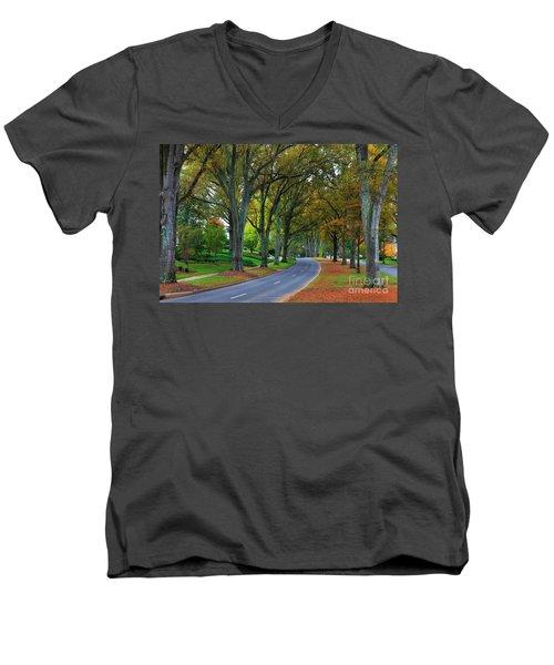Road In Charlotte Men's V-Neck T-Shirt