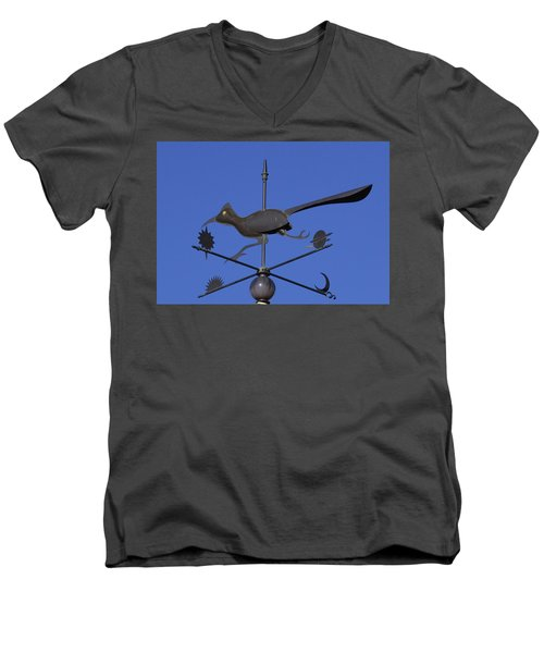 Men's V-Neck T-Shirt featuring the photograph Road Runner Weather Vane by Joan Hartenstein