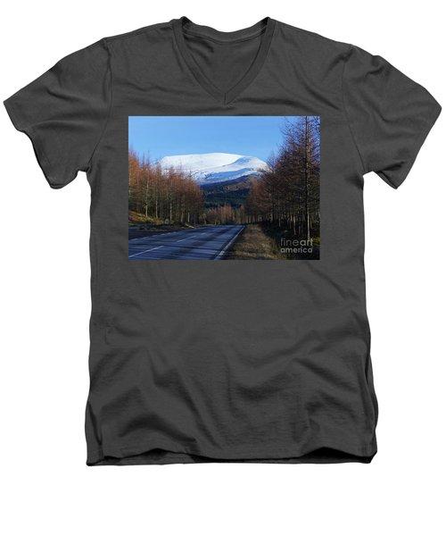 The Road To Aonach Mor  Men's V-Neck T-Shirt