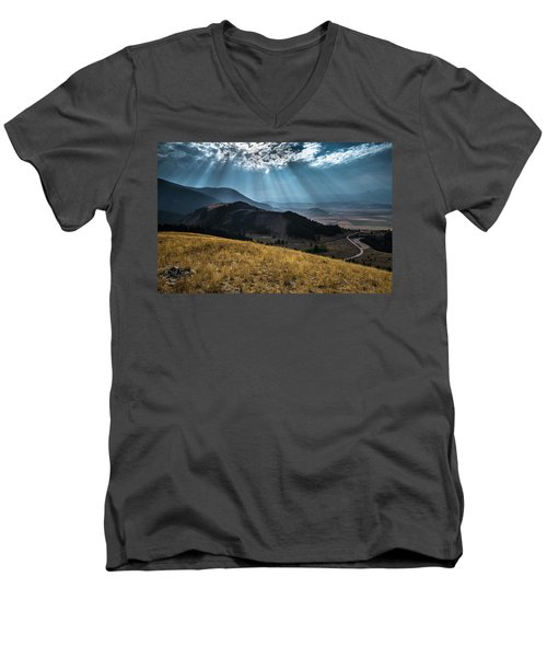 Road To Curtis Canyon Men's V-Neck T-Shirt