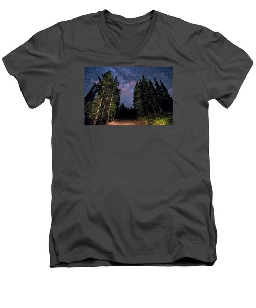 Road To Milky Way Men's V-Neck T-Shirt