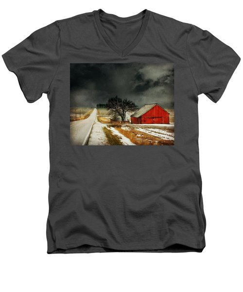 Men's V-Neck T-Shirt featuring the photograph Road To Nowhere by Julie Hamilton