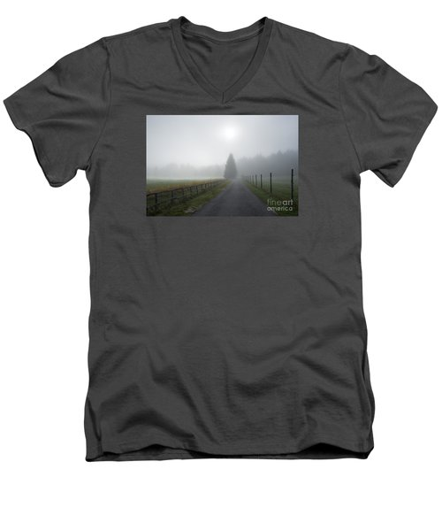 Road To Nowhere Men's V-Neck T-Shirt by Yuri Santin