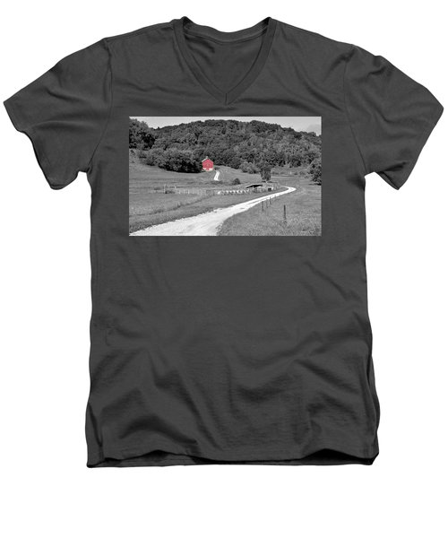 Road To Red Men's V-Neck T-Shirt