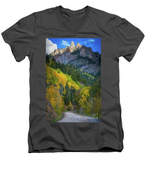 Road To Silver Mountain Men's V-Neck T-Shirt
