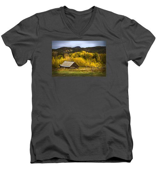 Men's V-Neck T-Shirt featuring the photograph Road To Steamboat Lake by John Hix