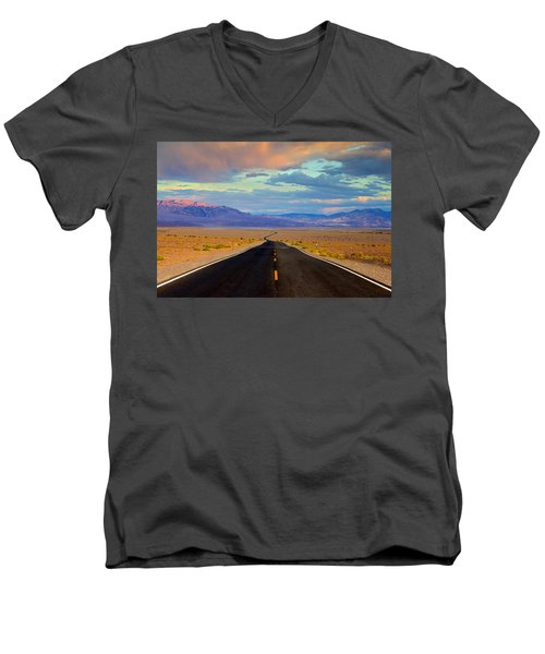 Men's V-Neck T-Shirt featuring the photograph Road To The Dreams by Evgeny Vasenev