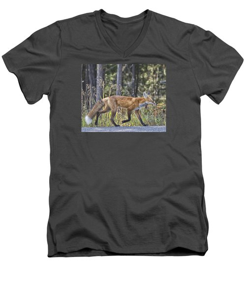 Road Weary Men's V-Neck T-Shirt by Elizabeth Eldridge