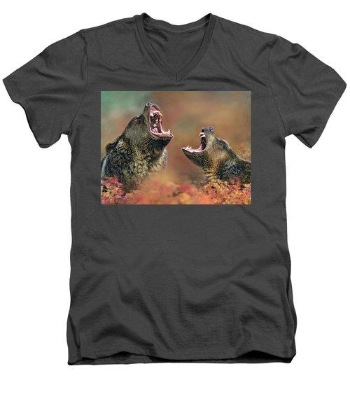 Roaring Bears Men's V-Neck T-Shirt