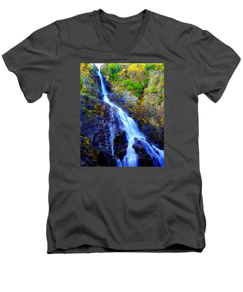 Roaring Brook Falls Men's V-Neck T-Shirt